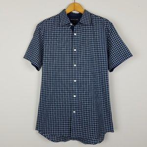 Michael Kors | Men's Checkered Button Down Shirt M